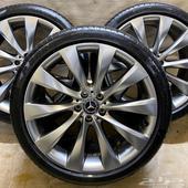 جنوط مرسيدس S sport 2018 الشكل الفل مع كفرات رن فلات