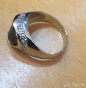 خاتم رجالي فضة القطعة الأخيرة