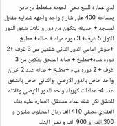 عمارة للبيع ف الحويه