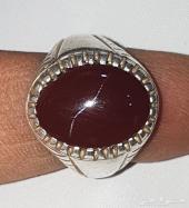 خاتم عقيق يماني الحجم وسط
