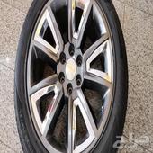 جنوط تاهو مقاس 22 أصلي من GM بالكفرات