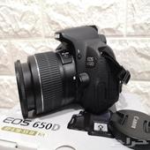 كاميرا كانون احترافيه نظيفه جدا Canon 650d