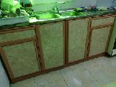 غرفة ضيوف ومطبخ