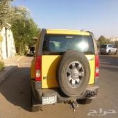 همر h3 موديل 2006 فل كامل لون أصفر سعودي