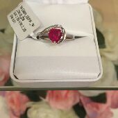 خاتم ياقوت والماس Ruby and diamond Ring