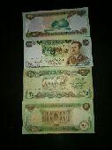 عملة عراقيه صورة صدام واحصنه 25 دينار