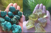 فيروز  توباز خام طبيعية احجار كريمة خام