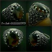 خاتم العقيق اليماني من الفضة أفضل عيار 925