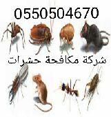شركة مكافحة حشرات مع الضمان 0550504670
