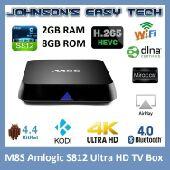 جهاز الترفيه الذكي m8s المطور andriod tv box  ساعات ثري دي  بروجكترات