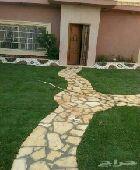 تنسيق حدايق تركيب العشب الصناعي وشلالات ونوفي