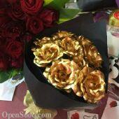 اجمل الهدايا لمن تحب وردة من ذهب عيار24k