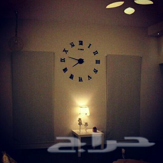 ساعة حائط 3D روعة  التركيب و التوصيل مجانا